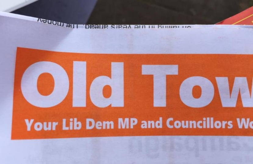 The Lib Dem's misleading piece literature