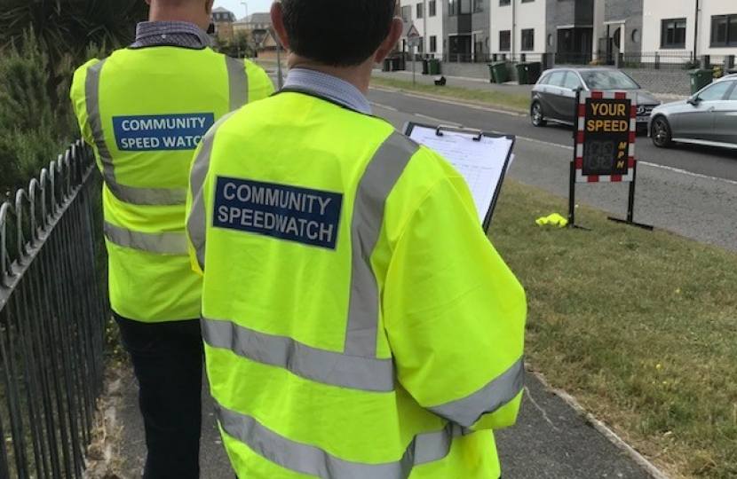 Community Speedwatch on Pacific Drive