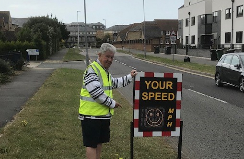 Pictures of Community Speedwatch in action
